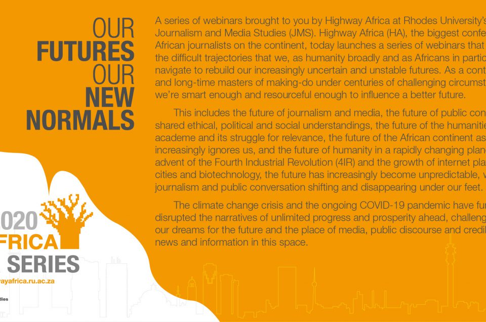 Highway Africa launches high-level media webinars